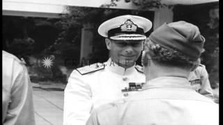 During World War II King George VI visits Algiers, Algeria HD Stock Footage