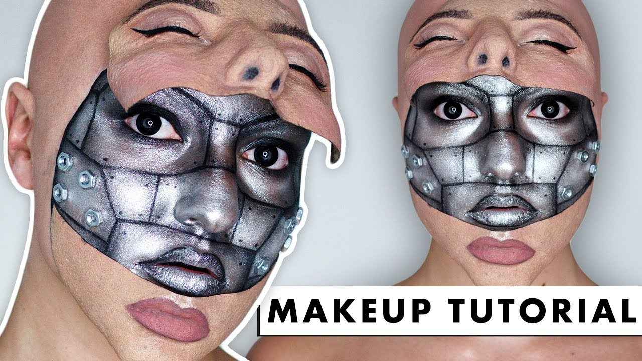 HALF MACHINE HALF HUMAN - SFX Makeup Tutorial - YouTube