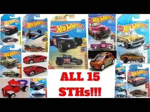 Hot Wheels 2018 Super Treasure Hunt List!!! All 15  Ultimate STH!!!