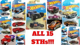 Hot Wheels 2018 Super Treasure Hunt List!!! All 15 + Ultimate STH!!!