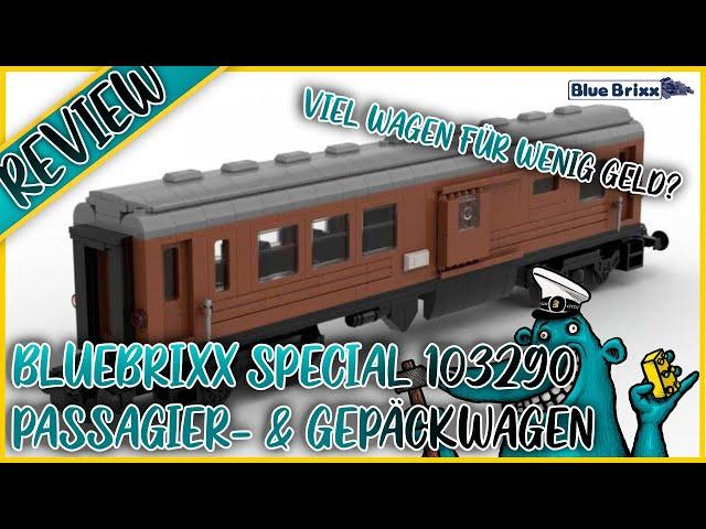 Bluebrixx Special 103290 Passagier- und Gepäckwagen: Ein (Alb)-Traum aus Dunkel-Orange und Silber?