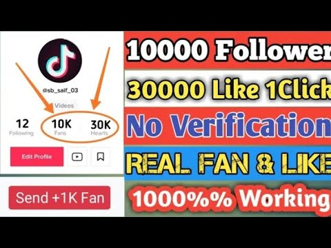 how to get free tiktok followers no human verification
