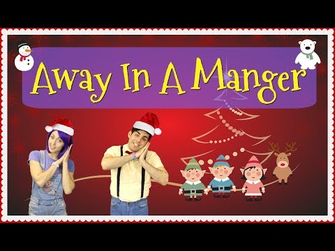 AWAY IN A MANGER | Christmas Song & Lyrics | Children Sing Along