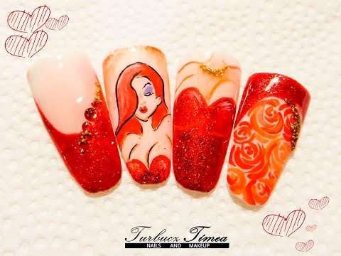 Valentines day nail art cartoon jessica from roger rabbit valentines day nail art cartoon jessica from roger rabbit tutorial youtube prinsesfo Image collections