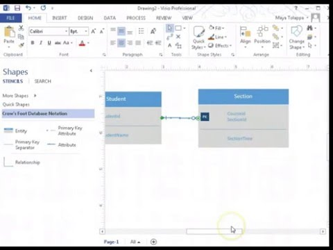Eny Relationship Diagram | How To Create Er Diagrams Using Visio 2013 Entity Relationship