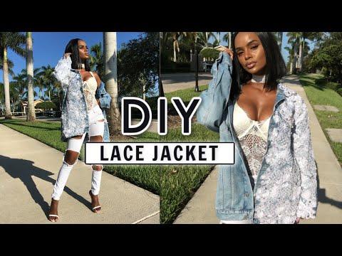 DIY Designer Jacket   DIY Crystal Denim Jacket