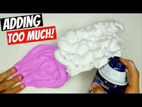 ADDING TOO MANY INGREDIENTS INTO SLIME! Adding Too Much Of Everything To SLIME!