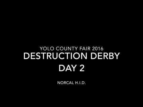 Yolo County Fair Demolition Derby 2016 Day 2