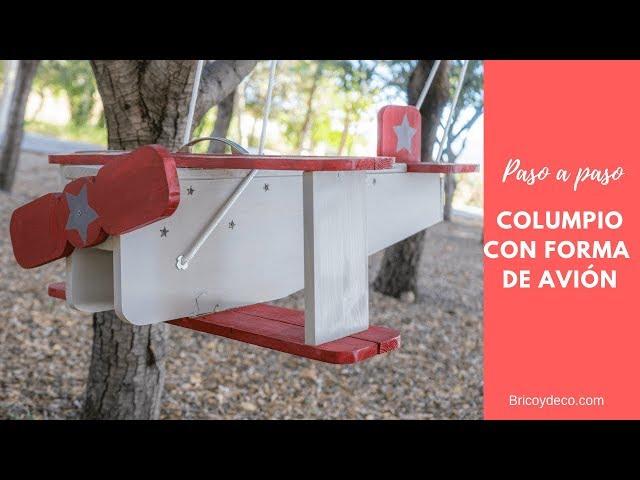 Cómo hacer un Columpio para Niños con forma de avión | Bricolaje Paso a Paso