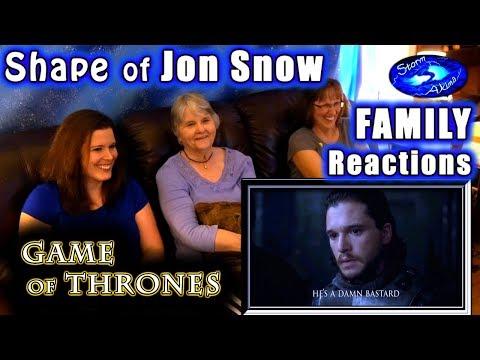 Game of Thrones | The Shape of Jon Snow | FAMILY Reactions | Ed Sheeran