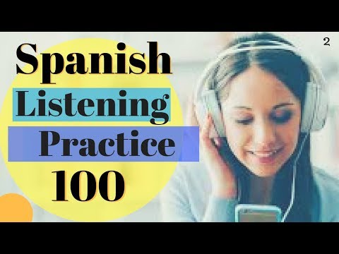 Learn Spanish \\ 100 Common Words In Context Improve Spanish