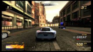 Burnout revenge gameplay HD (Motor city race)