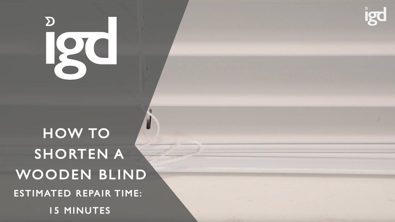 wooden blinds direct how to shorten a wooden blind youtube. Black Bedroom Furniture Sets. Home Design Ideas