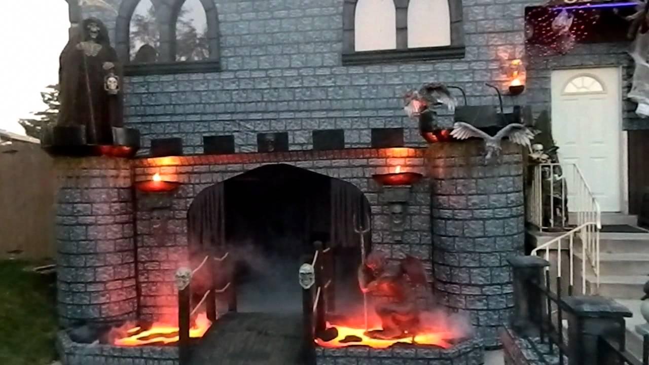Halloween Castle House Decoration 2011 YouTube