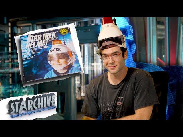 Unboxing The Official Star Trek Helmet with Ethan Peck | Star Trek Archive
