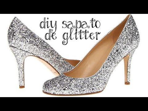 648ac5697 Faça você mesmo: Sapato com Glitter - YouTube