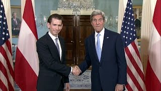 Secretary Kerry Welcomes Austrian Foreign Minister Kurz