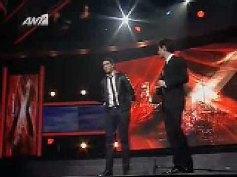 X Factor 2008 - Live show E01 - Nikolas Metaxas - Fairytale