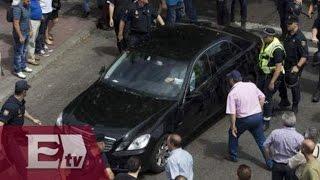VÍDEOS: Taxistas agreden a operadores de UBER /  Kimberly Armengol