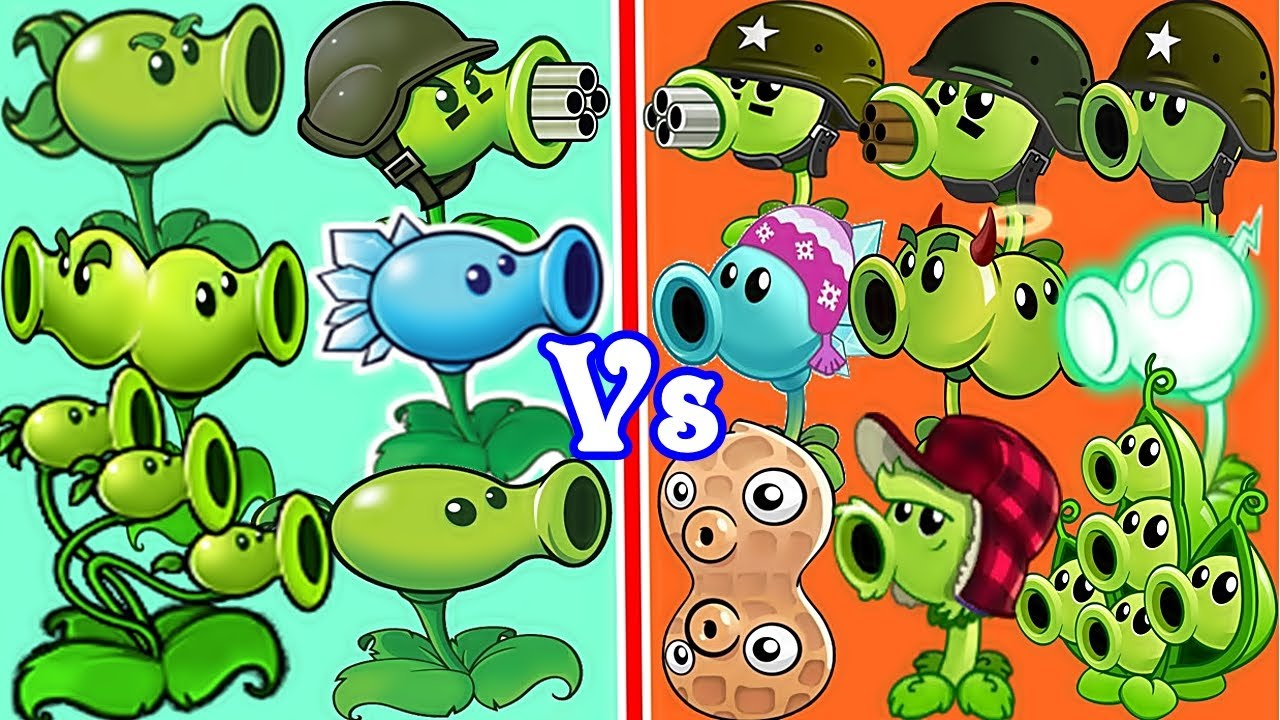 All Peashooter PvZ 2 vs All Peashooter PvZ in Plants vs Zombies 2 And  Plants vs Zombies