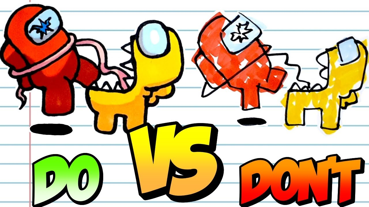 Download Amazing DO's & DON'Ts Drawing Among Us Impostor vs Crewmate #Shorts