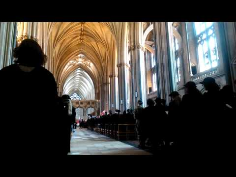 Merchant Venturers Process In To Bristol Cathedral on Charter Day 2014