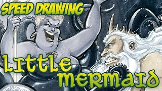 Speed Drawing: Ursula & Triton