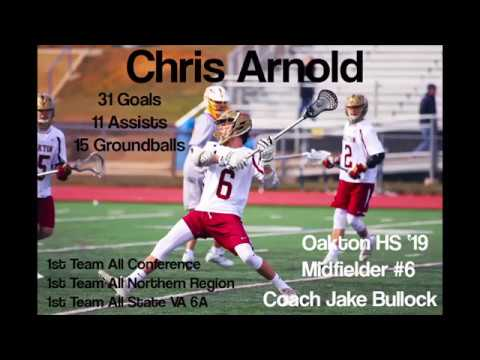 Chris Arnold 2018 Spring/Summer Lacrosse Highlights