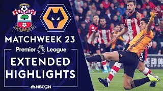 Southampton v. Wolves | PREMIER LEAGUE HIGHLIGHTS | 1/18/2020 | NBC Sports