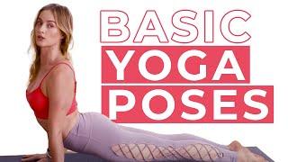18 Basic Yoga Poses  - Tadasana, Downward Facing Dog & More - Caley Alyssa