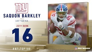 #16: Saquon Barkley (RB, Giants) | Top 100 Players of 2019 | NFL