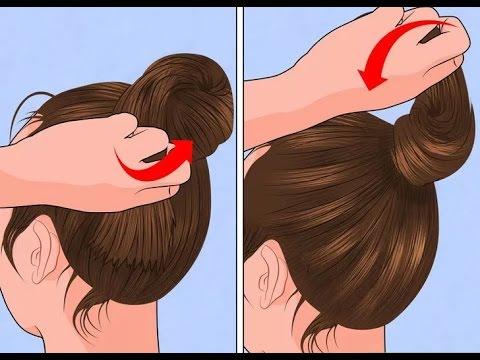 how to put thin hair in a bun