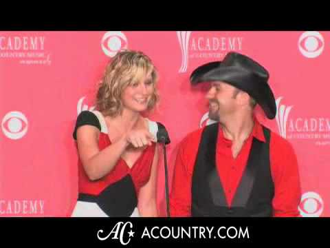 Sugarland Interview 2008 ACM Awards Part 1 of 3
