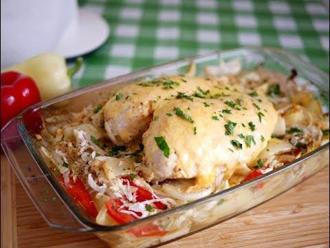 Как приготовить в духовке аппетитную курицу с румяной