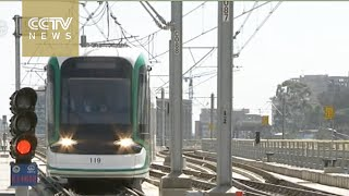 Chinese-built light rail in Ethiopia changes lives