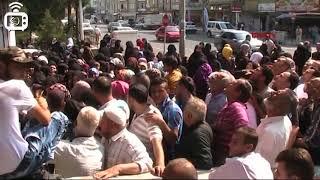 Suriyeli göçmenlere yardım sırasında izdiham yaşandı