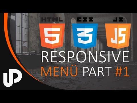 Einfaches Responsiv JavaScript Menü! Part #1  [Tuorial]