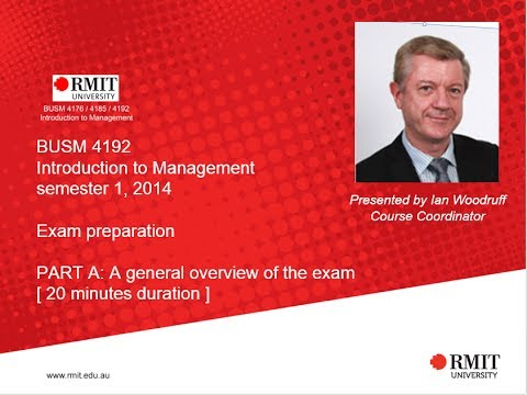 BUSM 4192 ITM s1 2014 exam overview PART A