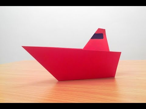 How to make a simple paper sailboat (very easy)