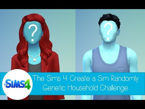 The Sims 4 Create a Sim - Randomly Genetic Household Challenge - Blue Hybrid Family