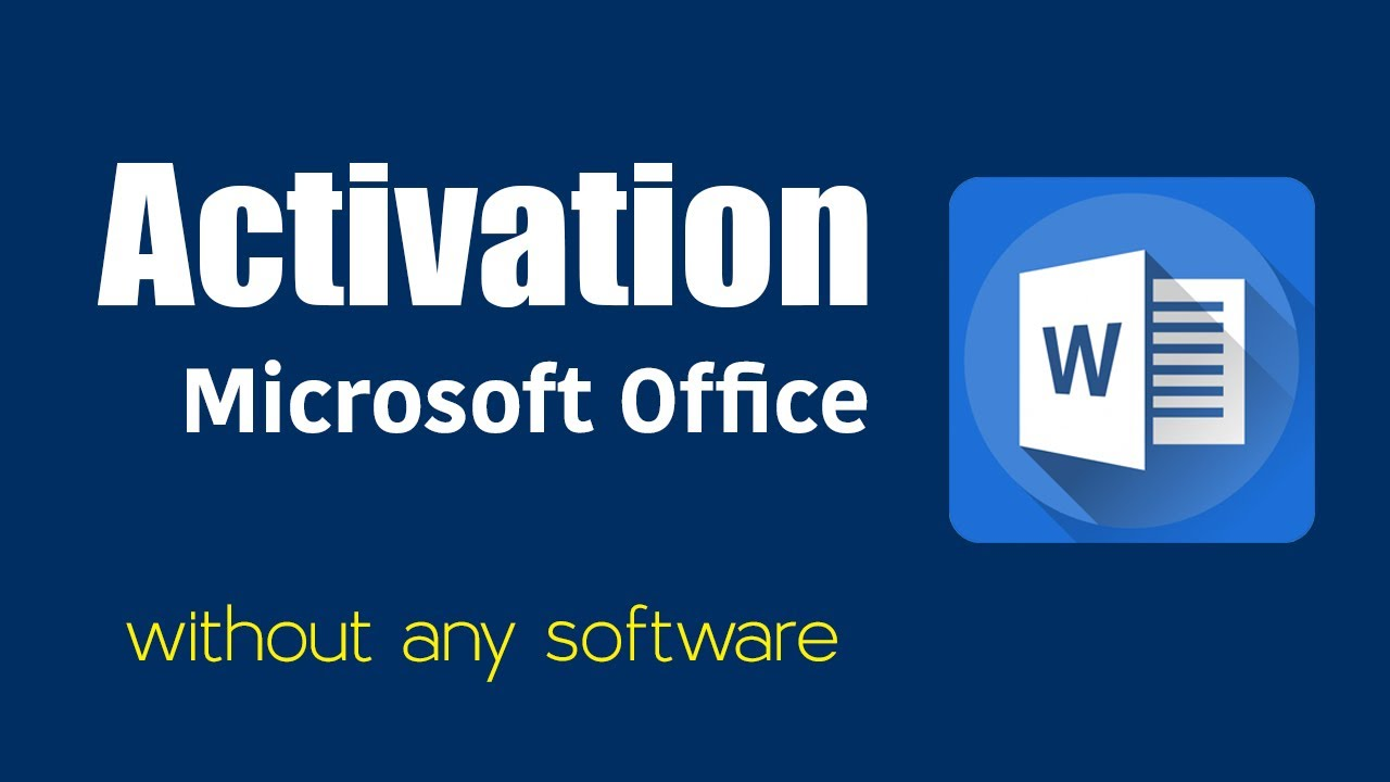 activate microsoft office 2010 without software