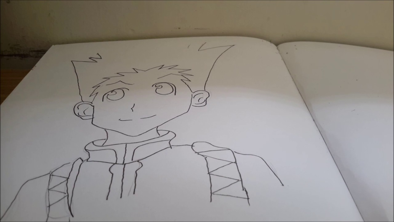 Drawing Gon From Hunter X Hunter Youtube