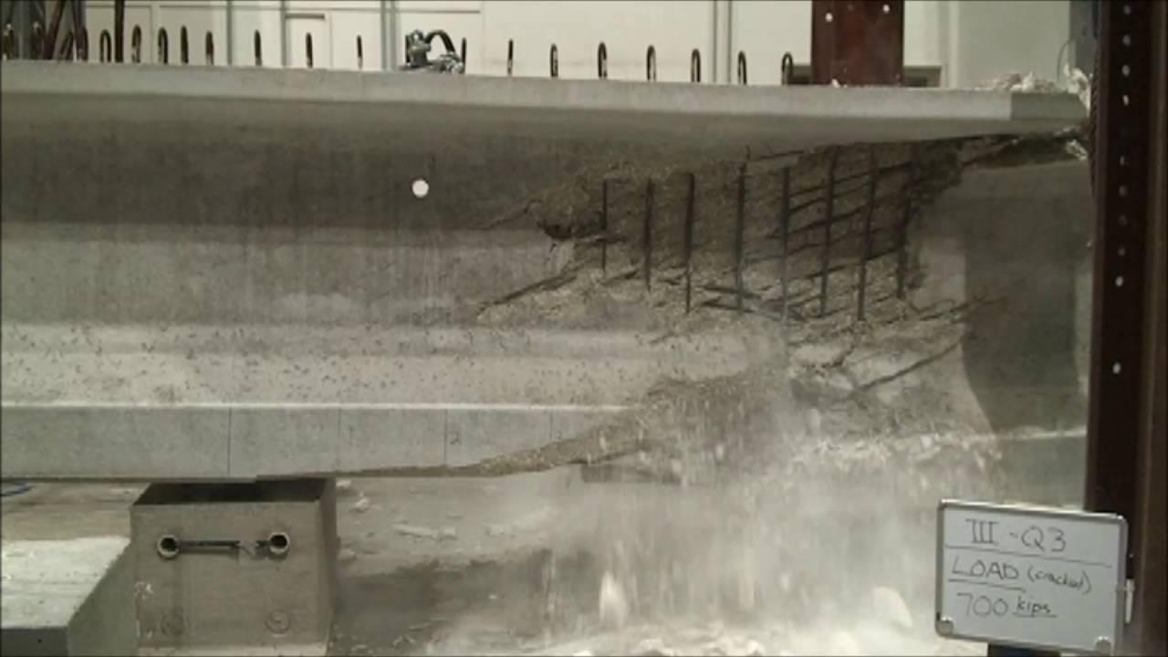Flexure Shear Failure Of Prestressed Concrete Beam Youtube