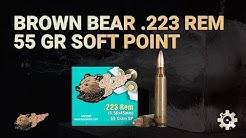 Brown Bear 223 Rem 55 gr Soft Point | Gel Test