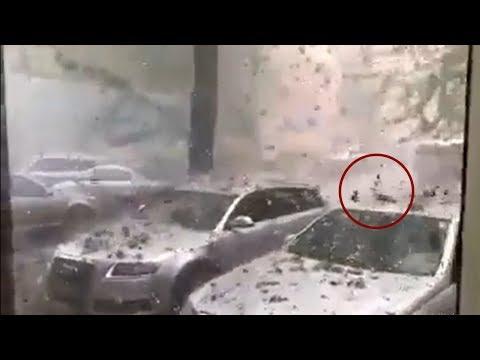 ¿Una granizada o un bombardeo?