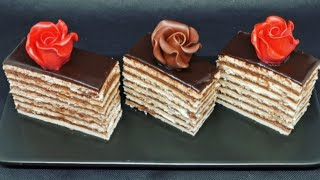 Cea mai buna reteta a copilariei prajitura Dobos cu foi | Pastel Dobos receta de mi infancia
