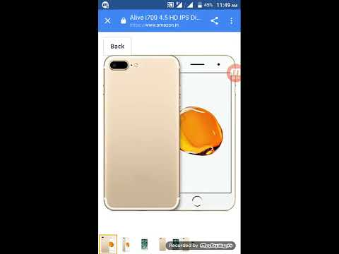 (Rs 3999) Alive i700 (Gold) Dual camera(front and back) यहाँ क्लिक करके ख़रीदे