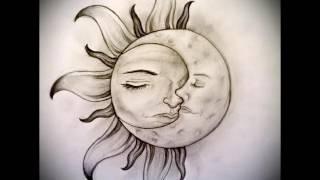 Эскизы для тату солнце   интересные варианты рисунков