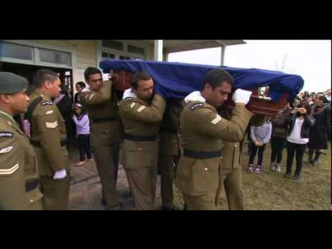 Family, friends and the NZ Army farewell Corporal Dougie Hughes