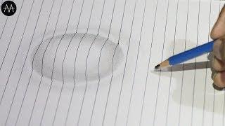 3d Trick Art on paper - #circle - Anamorphic Illusion